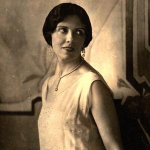 Flapper Girl aus den 20er Jahren