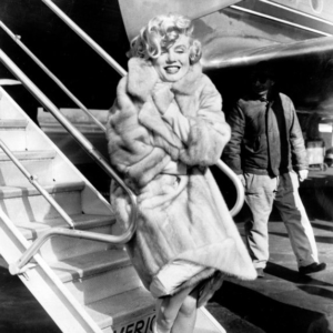 Marilyn Monroe mit blonden Locken