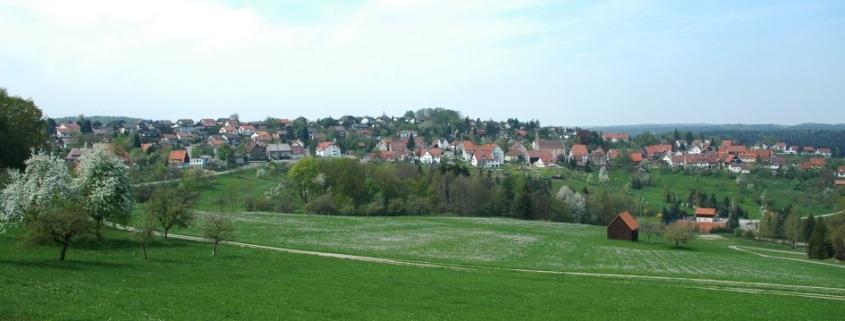 Ortsrand von Großerlach