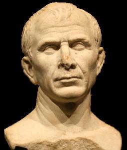 Caesar-Büste zeigt Haarausfall.