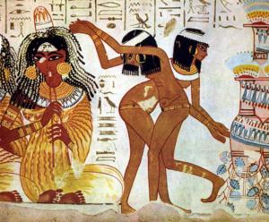 Ägyptische Wandmalerei, Haarentfernung