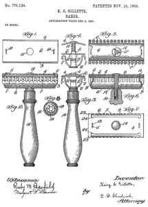 Gillette, Patent, 1904, Haarentfernung
