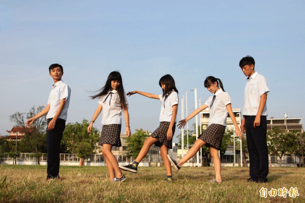 Uniform des Highschools PDGSH in Pingtung in Taiwan.