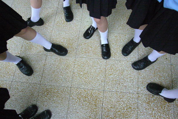 Uniform des Highschools LYGSH in Yilan in Taiwan