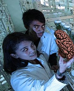 wissenschaftler mit gehirn