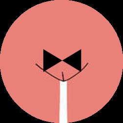 Schamhaarfrisur in Form einer Fliege