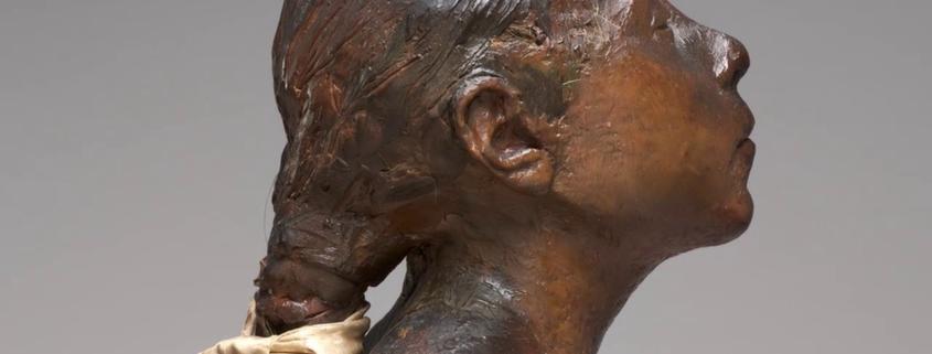 Kleine Vierzehnjährige Tänzerin von Edgar Degas (Grossaufnahme)Klickt man das Bild, sieht man sogar die einzelne Haarsträhne. (Sammlung von Herrn und Frau Paul Mellon, Quelle: National Gallery of Art, Washington, D.C.)