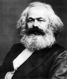 Porträt von Karl Marx