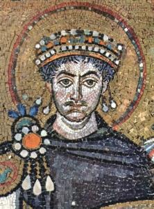 Antike Darstellung von Kaiser Justinian.
