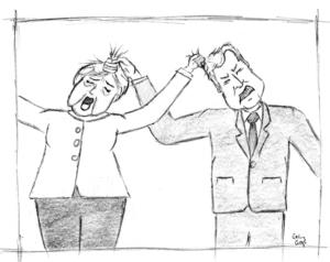 CDU und CSU im Streit