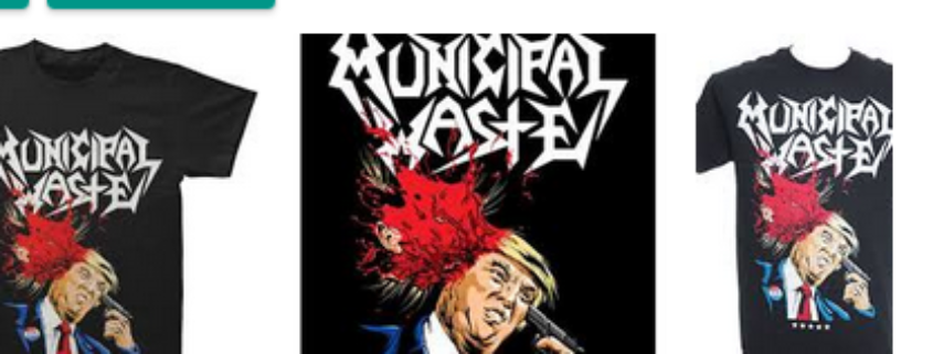 Trump artwork by Municipal Waste