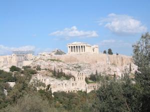 Der Parthenon auf der Athener Akropolis