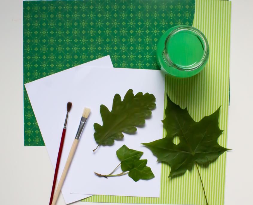 Blätterdruck Farbe