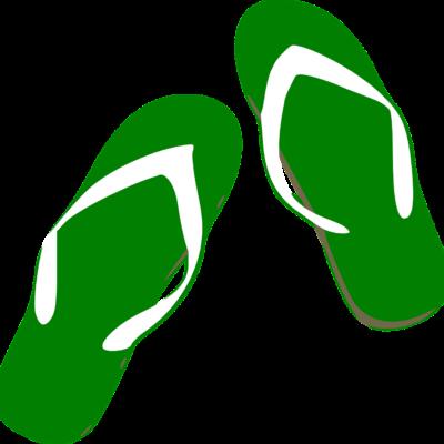 In grünen Schuhe stehen