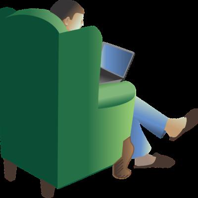 Im grünen Stuhl sitzen