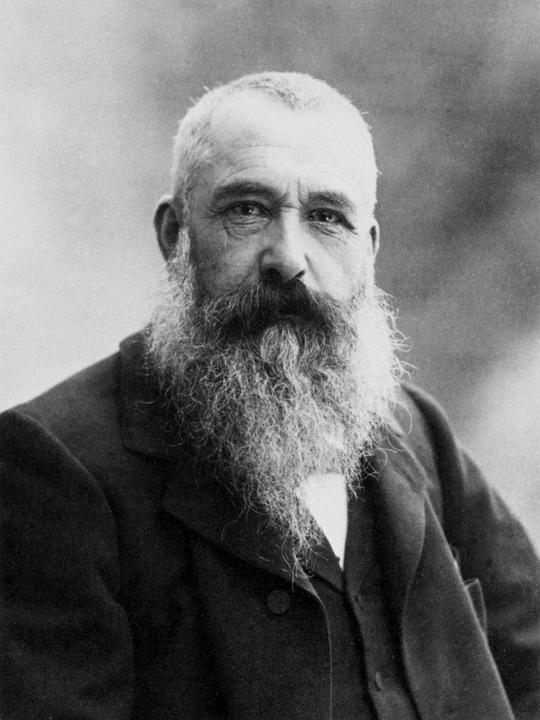 Ein Porträt des französischen Künstlers Claude Monet