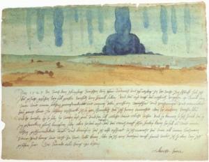 Albrecht Dürers Alptraum als Aquarell Gemälde