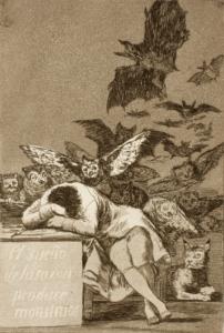 Alptraum und Vernunft als Thema von Goyas Radierung