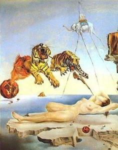 Gemälde des Surrealismus von Dalí zeigt die Ursache des Alptraums