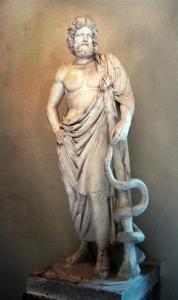 Der Heilgott Asklepios erschien Kranken im Traum in Epidauros, Pergamon und auf Kos