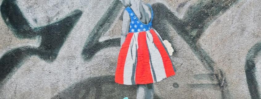 Mädchen mit USA Flagge